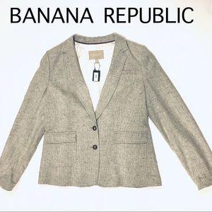 Banana Republic hacking jacket NWT grey tweed 14